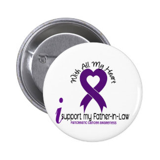 I Support My Father-In-Law Pancreatic Cancer 6 Cm Round Badge