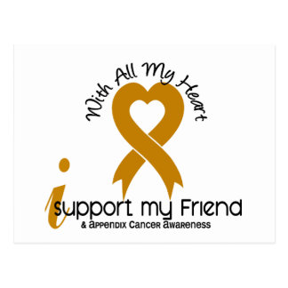 I Support My Friend Appendix Cancer Postcard