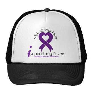 I Support My Friend Pancreatic Cancer Mesh Hats