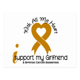 I Support My Girlfriend Appendix Cancer Postcard