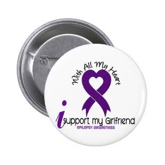 I Support My Girlfriend Epilepsy Pinback Button