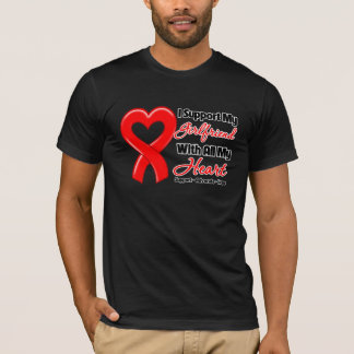 I Support My Girlfriend With All My Heart T-Shirt