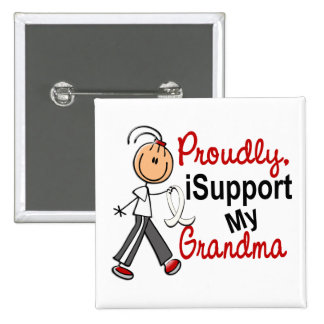 I Support My Grandma SFT (Bone / Lung Cancer) 15 Cm Square Badge