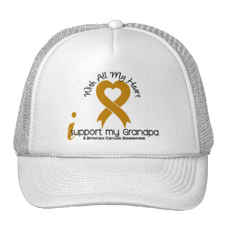 I Support My Grandpa Appendix Cancer Mesh Hats