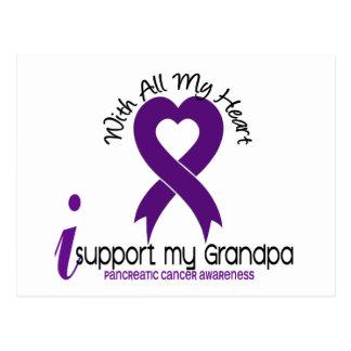 I Support My Grandpa Pancreatic Cancer Postcard