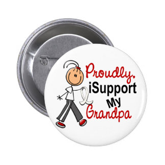 I Support My Grandpa SFT (Bone / Lung Cancer) 6 Cm Round Badge