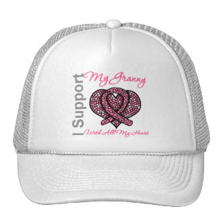 I Support My Granny Breast Cancer Awareness Mesh Hat