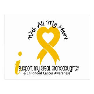 I Support My Great Granddaughter Childhood Cancer Postcard