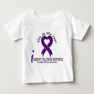 I Support My Great Grandma Pancreatic Cancer T-shirts