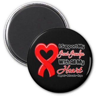 I Support My Great-Grandpa With All My Heart 6 Cm Round Magnet