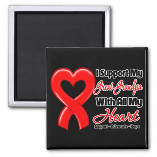 I Support My Great-Grandpa With All My Heart Square Magnet