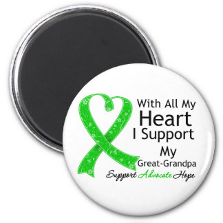 I Support My Great-Grandpa With All My Heart Fridge Magnets