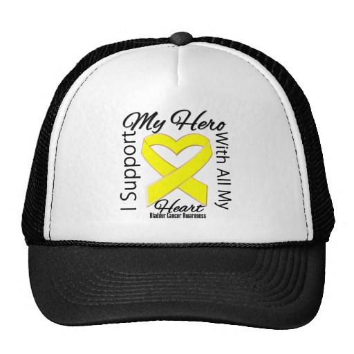 I Support My Hero - Bladder Cancer Awareness Mesh Hats