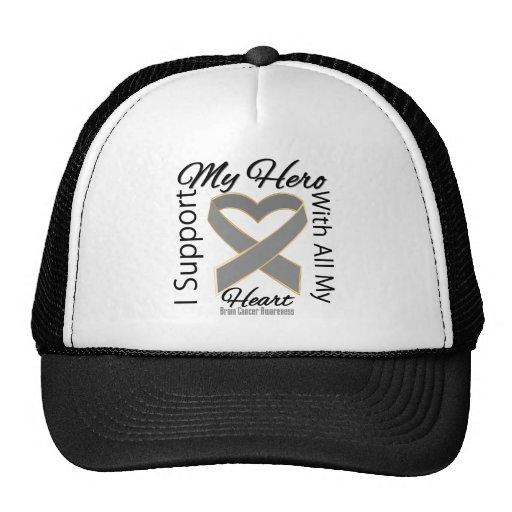 I Support My Hero - Brain Cancer Awareness Trucker Hats
