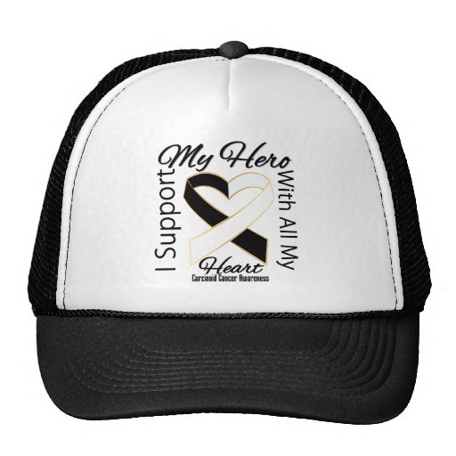 I Support My Hero - Carcinoid Cancer Awareness Trucker Hats