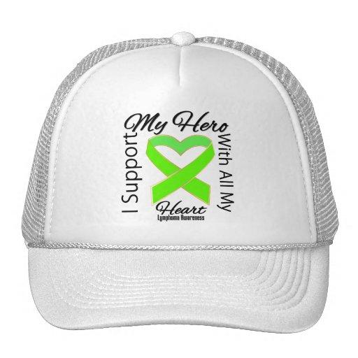 I Support My Hero - Lymphoma Awareness Mesh Hat