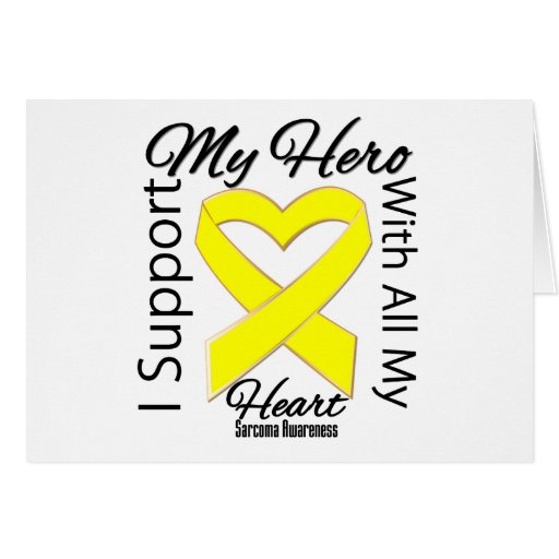 I Support My Hero - Sarcoma Awareness Card