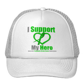 I Support My Hero Traumatic Brain Injury Trucker Hat