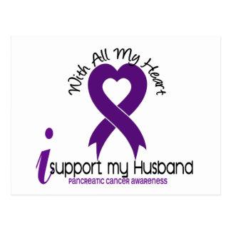 I Support My Husband Pancreatic Cancer Postcard