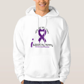 I Support My Mommy Pancreatic Cancer Hoody