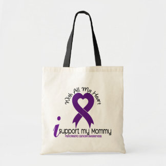 I Support My Mommy Pancreatic Cancer Budget Tote Bag