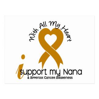 I Support My Nana Appendix Cancer Postcard
