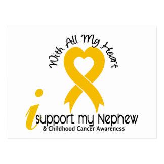 I Support My Nephew Childhood Cancer Postcard