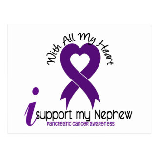 I Support My Nephew Pancreatic Cancer Postcard
