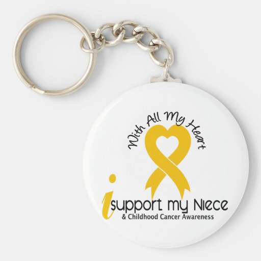 I Support My Niece Childhood Cancer Key Chains