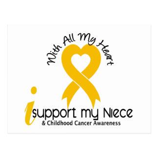 I Support My Niece Childhood Cancer Postcard