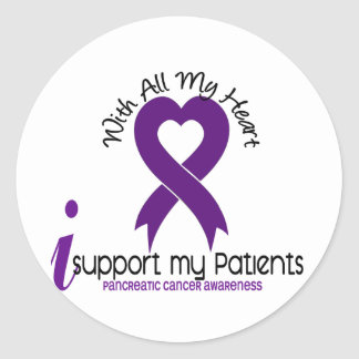 I Support My Patients Pancreatic Cancer Round Sticker