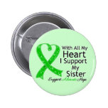 I Support My Sister All My Heart 6 Cm Round Badge