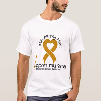 I Support My Sister Appendix Cancer T-Shirt