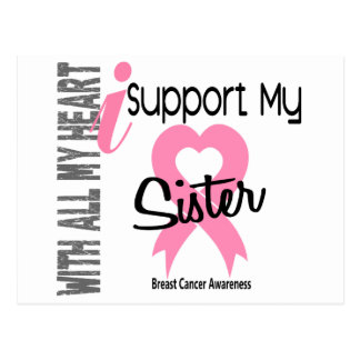 I Support My Sister Breast Cancer Post Card