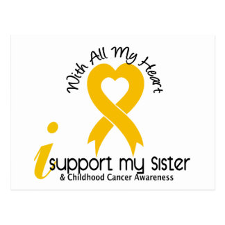 I Support My Sister Childhood Cancer Postcard