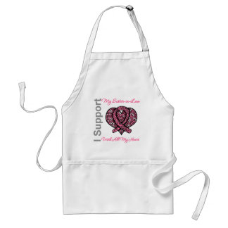 I Support My Sister-in-Law Breast Cancer Awareness Standard Apron