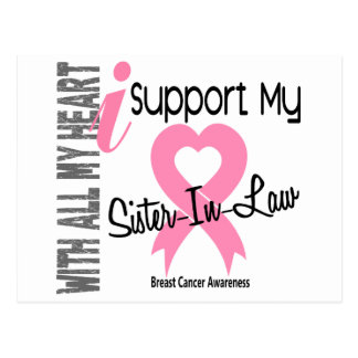 I Support My Sister-In-Law Breast Cancer Postcard