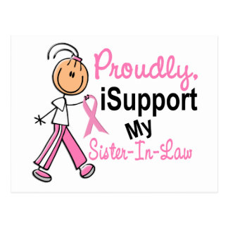 I Support My Sister-In-Law SFT Breast Cancer T-Shi Postcard