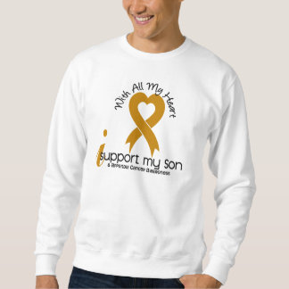 I Support My Son Appendix Cancer Pullover Sweatshirts