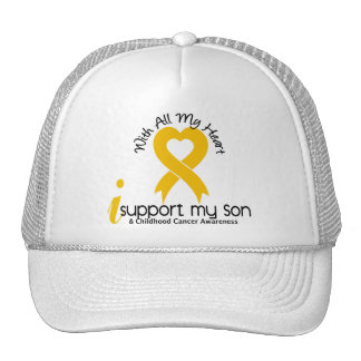 I Support My Son Childhood Cancer Hat