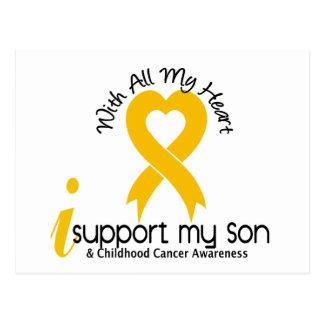 I Support My Son Childhood Cancer Postcard