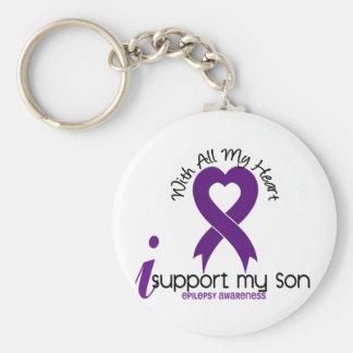 I Support My Son Epilepsy Key Ring