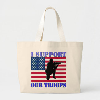 I SUPPORT MY TROOPS JUMBO TOTE BAG