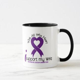 I Support My Wife Pancreatic Cancer Mug