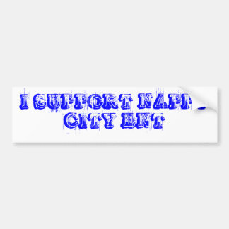 I SUPPORT NAPPY CITY ENT BUMPER STICKER