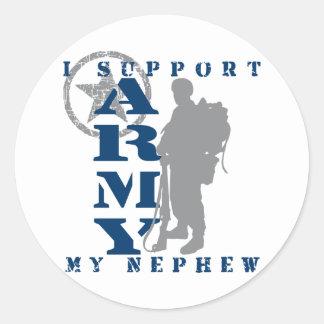I Support Nephew 2 - ARMY Classic Round Sticker
