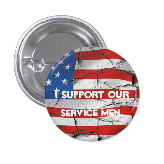 I SUPPORT OUR SERVICE MEN AMERICAN FLAG PIN