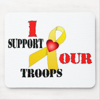 I support our Troops Mousepads