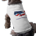 I Support Our Troops shirt for dogs Sleeveless Dog Shirt