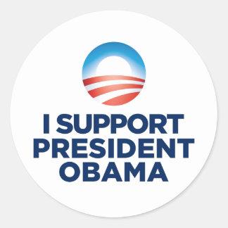 I Support President Obama Classic Round Sticker
